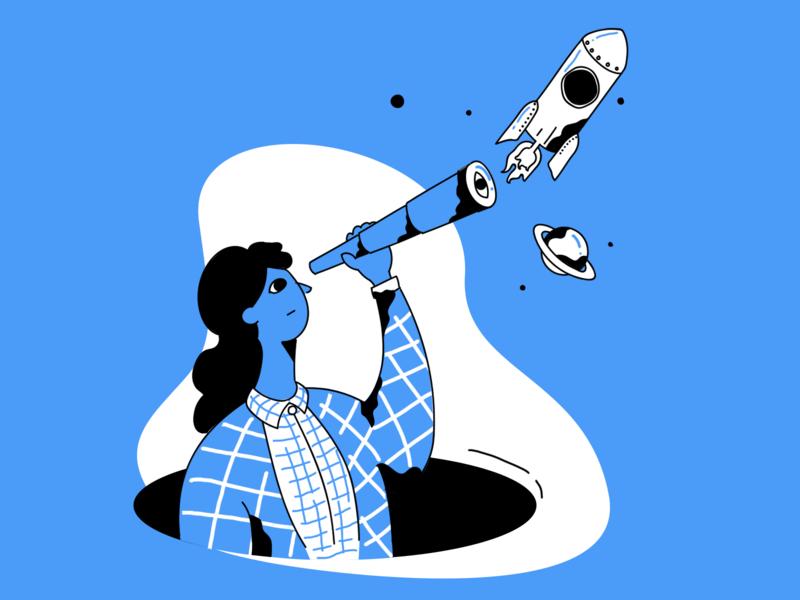 Discovery 插图 设计 ui illistration