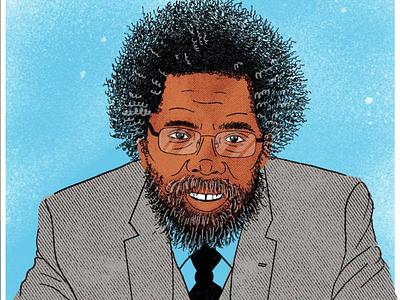 Dr. Cornel West Illustration procreate portrait illustration portrait cornel west bhm2020