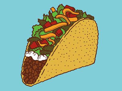Taco Bell Hardshell foodillustration handdone illustration