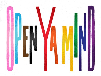 Open Ya Mind Pride Post social post typography hand done texture illustration lettering ally pride pride2021