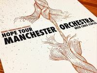 Manchester Orchestra Hope Tour Poster