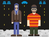 Aesop Rock and Rob Sonic 8-bit poster