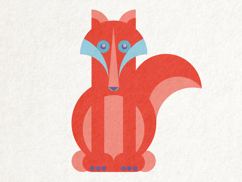 Fox illustration geometric vector red fox animal fox