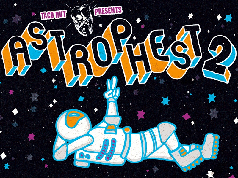 Astrophest 2  new haven connecticut astro stars hand drawn illustration astronaut space