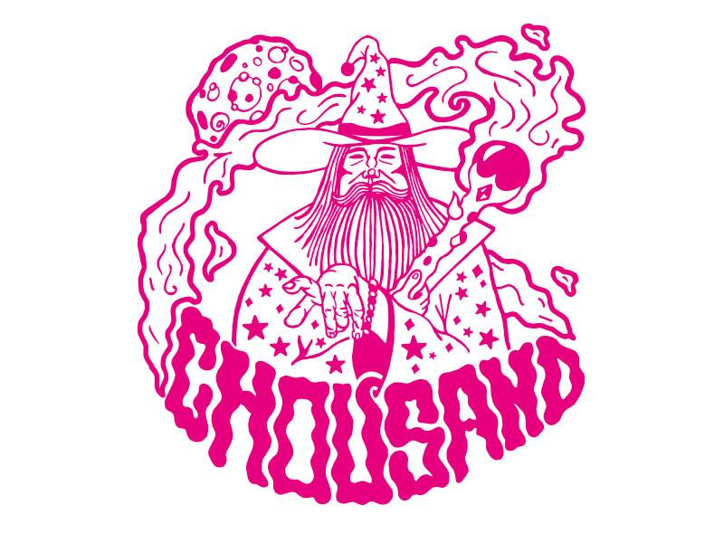 Wizard T-shirt hand done illustraition t-shirt music chousand ct wizard