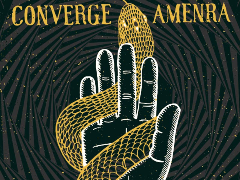 Neurosis, Converge, Amenra Poster concert poster new haven neurosis snake pattern illustration poster converge ct