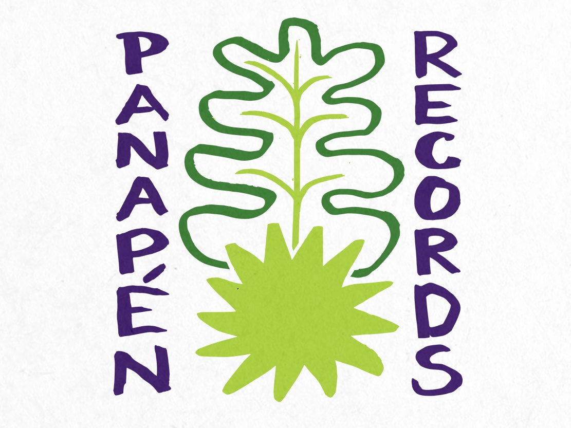 Panapen Records Logo music records logo breadfruit fruit custom type hand done hand drawn