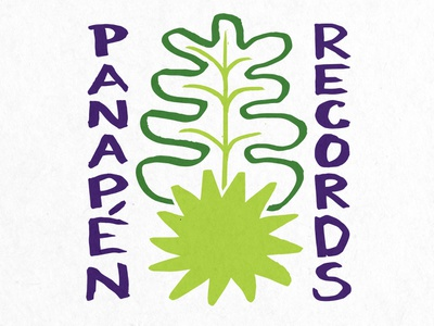 Panapen Records Logo music records logo breadfruit fruit custom type hand done hand drawn