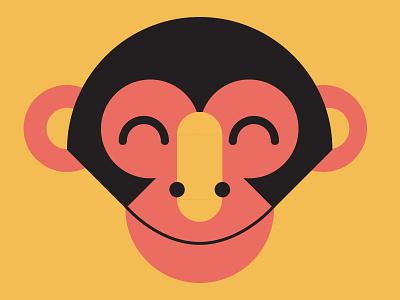 Monkey mural vector illustration monkey