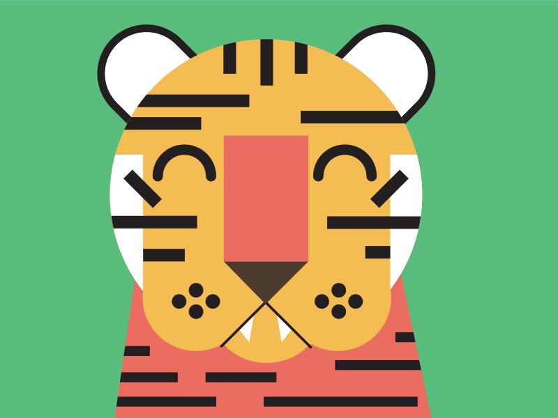 Tiger vector mural illustration tiger