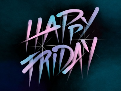 Happy Friday Lettering hand done typography friday handlettering hand drawn lettering art