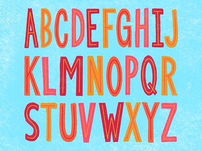 King Inline Letter Set illustration hand drawn typography hand done blues sans handdone type handdone inline letter lettering handlettering