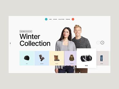 Winter Collection adobe xd xd minimal webdesign web design website web