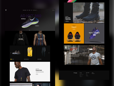 [CONCEPT] Mamba Website concept ui minimal web website fashion shoes bryant kobe mamba