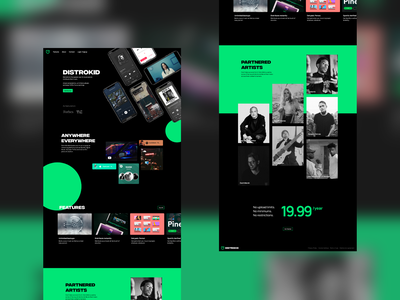 [REDESIGN] DistroKid Site website distrokid music hero microsite ui redesign concept minimal logo xd