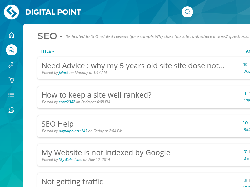 Digital Point Forums Redesign Mockup by Rohan Bhangui on