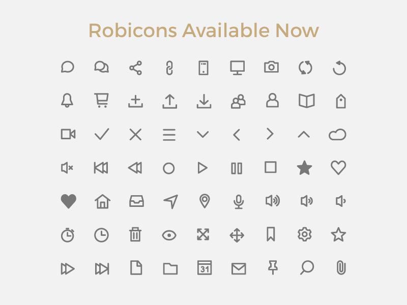 Robicons Font robicons icons tab bar icons line flat illustrator ui free icon font freebie