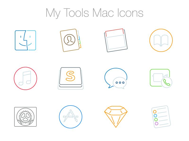 My Mac Icons [Freebie] svg dock osx minimal freebie vector line mac icons