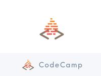 CodeCamp (Concept) vector logo teach academy hot brackets campfire fire camp code