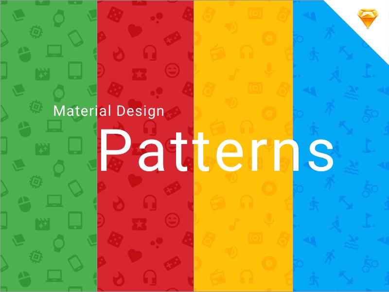 Material Design Icons Patterns google free sketch minimal flat material design freebie pattern