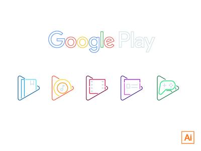 Play Line Icons [FREEBIE]