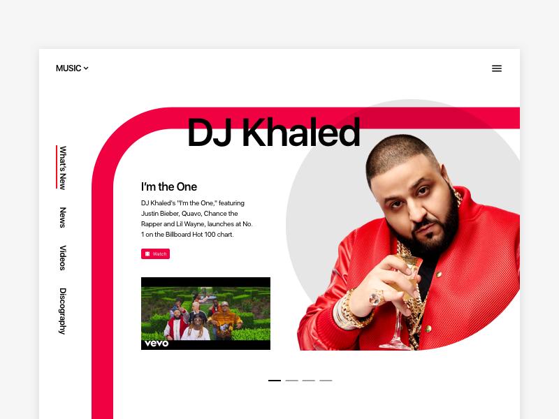 Website with artist
