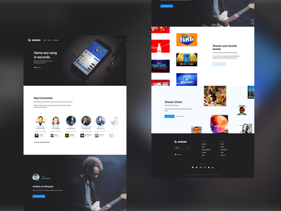 Shazam Splash Page Redesign music site sketch macbook website web redesign shazam apple