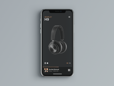 B&O Beoplay Concept Connect App music app mockup concept minimal sketch olufsen bang beoplay bose wireless connect