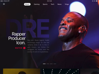 Featured Content Experiences sketch apple app website page hero youtube music slider