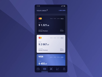 Online Banking App fintech banking design animation mobile app ux ui