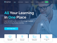 Landing Page of Learning Platform for the aerospace company.