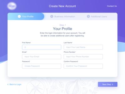 Wizard for online market platform.