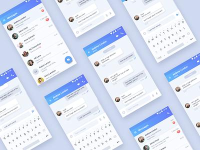 Direct Messaging #DailyUI Day #013 chat telegram messenger message messenger app mobile 013 dailyui app interface design ux ui