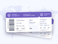 Boarding Pass #DailyUI #day024