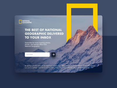 Subscribe #DailyUI #day026 nature subscribe form subscription subscribe mountain national geographic 026 inspiration app web interface dailyui design ux ui
