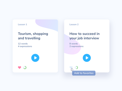 Favorites #DailyUI day #044 e-learning course lessons hover daily ui favorites favorite 044 web interface dailyui design ux ui