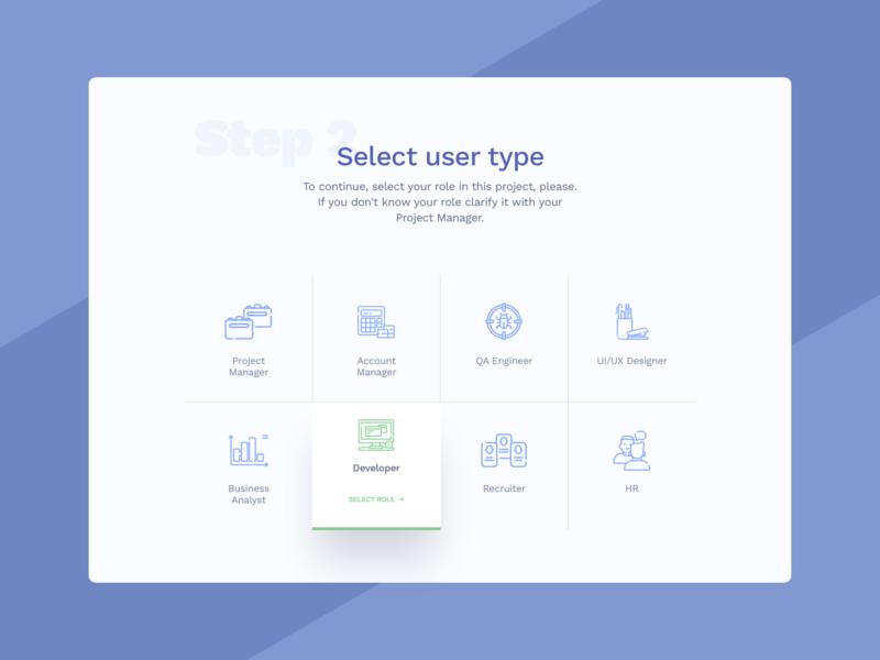 Select User Type #DailyUI #day064 064 select user type user select web interface dailyui design ux ui