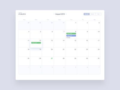 Date Picker #DailyUI #day080 web date datepicker date picker calendar 080 dailyui design ux ui