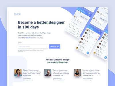 Redesign Daily UI Landing Page #DailyUI #day100 redesign landing page 100 landing web interface dailyui ux design ui