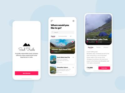 Soul Trails - Mobile App Concept