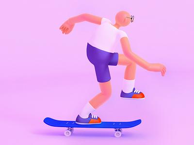 skater bill c4d procreate characters design illustration character design c4d 3d art