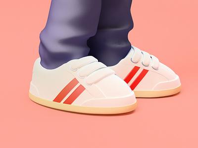 Footwear design design illustration c4d 3d art