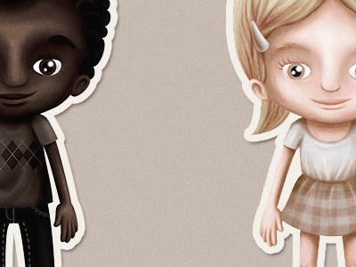 etnias children ethnicity african kids illustration ethnic
