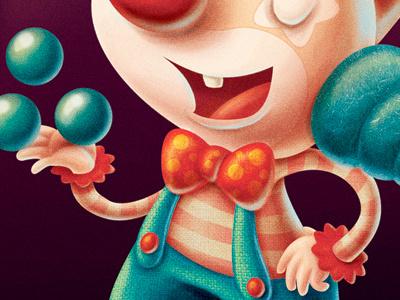 clown kids show children juggling fun circus clown illustration