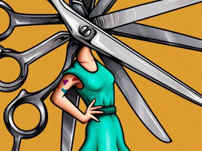 scissor head newschool tattoo girl scissors scissor