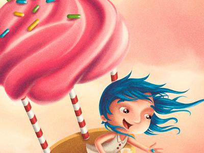 fairytale IV - Hansel and Gretel sweet jellybean girl cupcake candy balloon hansel and gretel fairy tale schoolbook children kids