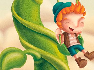 fairytale II - jack and the beanstalk clouds swing redhead kid children beanstalk jack and the beanstalk fairytale