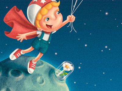 fairytale I - the little prince child kid children dome planet space moon astronaut little prince fairytale