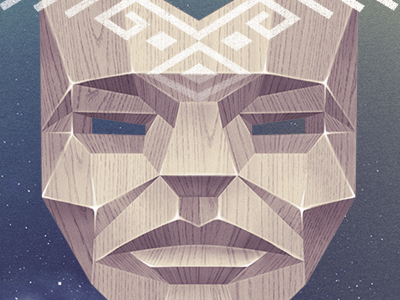 matanza mask ancient craft wood native mystery mask tribal