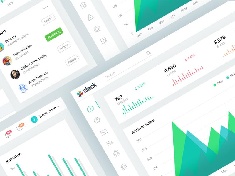 Slack dashboard concept
